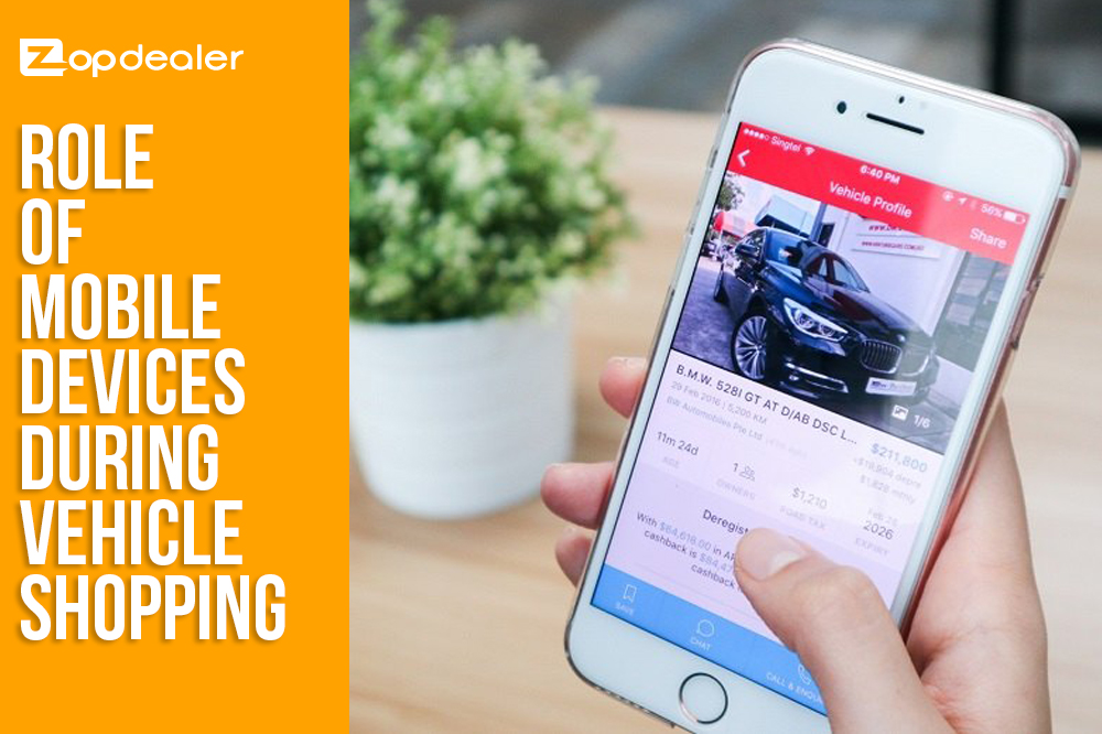 Role of Mobile Devices during Vehicle Shopping